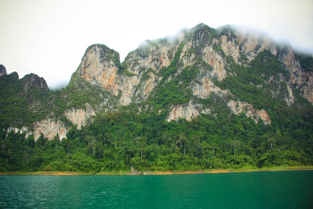 Mountain at Khaosok Thailand's Guilin in Ratchaprapha Dam