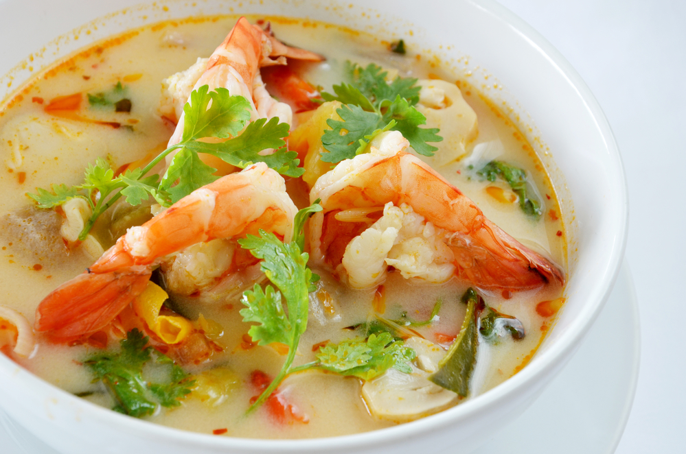 Spicy soup with shrimp , Thai food